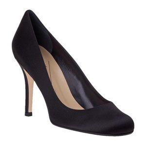 Kate Spade Karolina Satin Round Toe Pumps Heels 7.5 Black